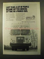 1971 Liberty Mutual Ad - Sitting in a Parked Bus