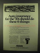 1971 Allstate Insurance Ad - Do These 6 Things