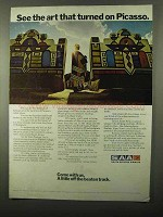 1971 SAA South African Airways Ad - Turned on Picasso
