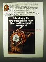 1971 Old Forester Bourbon ad - Gallon Barrel
