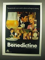 1971 Benedictine Liqueur Ad - End a Dinner