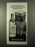 1971 Seagram's Extra Dry Gin Ad - Martini Drinker