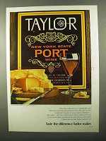 1971 Taylor Port Ad - Taste The Difference Taylor Makes