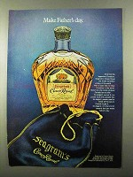 1971 Seagram's Crown Royal Whisky Ad - Father's Day