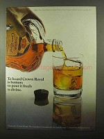 1971 Seagram's Crown Royal Whisky Ad - Pour is Divine