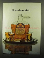 1971 Seagram's Crown Royal Whisky Ad - Share Wealth