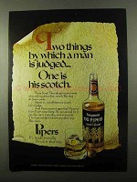 1971 Seagram's 100 Pipers Scotch Ad - Man is Judged