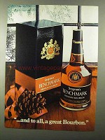 1971 Seagram's Benchmark Bourbon Ad - And to All