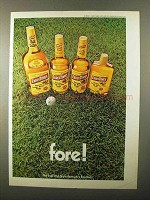1971 Early Times Bourbon Ad - Fore!