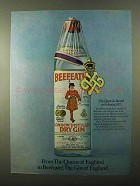 1971 Beefeater Gin Ad - From the Queen of England