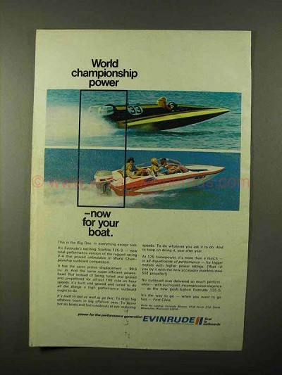 1971 Evinrude Starflite 125-S Outboard Motor Ad