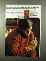 1971 L&M Cigarettes Ad - Calling The New Girl