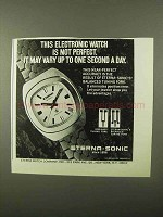 1971 Eterna-Sonic Electronic Watch Ad - Vary One Second
