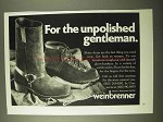 1971 Weinbrenner Boots Ad - For Unpolished Gentleman