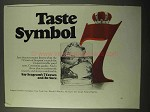 1971 Seagram's 7 Crown Whiskey Ad - Taste Symbol