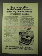 1971 Smith-Corona Typewriter Ad - Better Grades in June