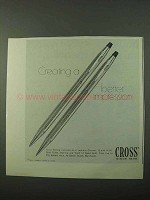 1971 Cross Pens Ad - Creating a Better Impression