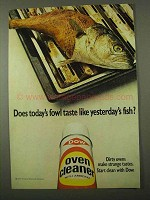1971 Dow Oven Cleaner Ad - Today's Fowl Like Fish