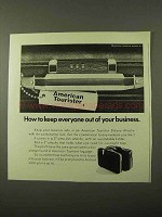 1971 American Tourister DeLuxe Attache Ad - Keep Out