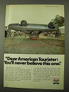 1971 American Tourister Luggage Ad - Never Believe This
