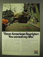 1971 American Tourister Luggage Ad - Saved My Life