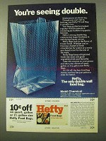 1971 Hefty Food Bags Ad - You're Seeing Double