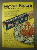 1971 Reynolds Wrap Ad - Apple Sundae Recipe