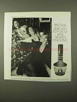 1971 Bacchus After Shave Ad - Wine, Women and Song
