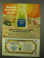 1971 Vaseline Intensive Care Lotion Ad - Summer Skin