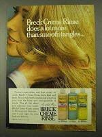 1971 Breck Creme Rinse Ad - More Than Smooth Tangles