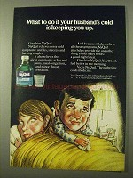 1971 Vicks NyQuil Ad - Husband's Cold Keeping You Up