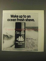 1971 Old Spice Super Smooth Shave Ad - Ocean Fresh