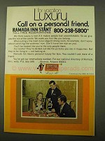 1971 Ramada Inn Ad - For Vacation Luxury