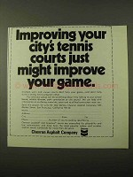 1971 Chevron Asphalt Ad - Your City's Tennis Courts