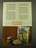 1971 Quaker King Vitamin Cereal Ad