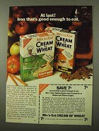 1971 Mix 'n Eat Cream of Wheat Ad - At Last