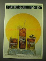 1971 Lipton Tea Ad - Summer on Ice