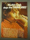 1971 Nestle's Quik Ad - Stops the Thungries