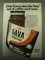 1971 Borden Kava Instant Coffee Ad - Takes Bite Out Of