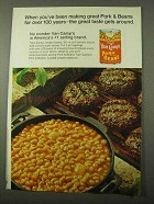 1971 Van Camp's Pork and Beans Ad - Over 100 Years
