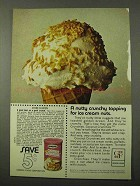 1971 Baker's Coconut Crunchies Ad - For Ice Cream Nuts