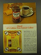 1971 Nestle's Decaf Instant Coffee Ad
