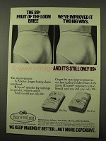 1971 Fruit of the Loom Briefs Ad - Improved It