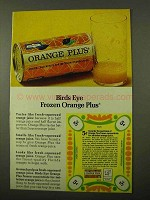1971 Birds Eye Frozen Orange Plus Concentrate Ad