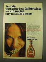 1971 Wish-Bone Low Calorie Dressing Ad - Frankly