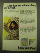 1971 Du Pont Lucite Wall Paint Ad - About See-Through