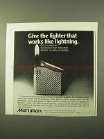 1971 Maruman Lighter Ad - Works Like Lightning