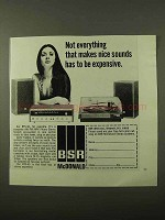 1971 BSR McDonald RTS-40 Stereo System Ad - Nice Sounds