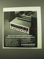 1971 Pioneer Audio Components Ad - Great Music