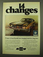 1971 Chevrolet Chevy Chevelle Ad - 14 Changes